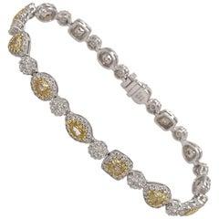 Yellow Diamond Bracelet by Matthew Ely