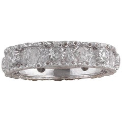 Buccellati White Gold and Diamond Band Ring