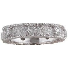 Buccellati White Gold and Diamond Band Ring