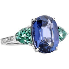 Paolo Costagli Paolo Costagli Blue Spinel, Lagoon Tourmaline and Diamond Ring