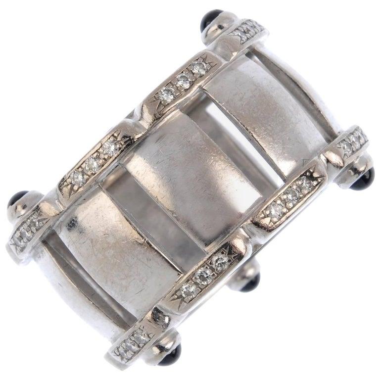 Patek Philippe Diamond and Sapphire 18 Carat White Gold Ring