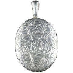Antique Victorian Silver Ivy Locket, circa 1900
