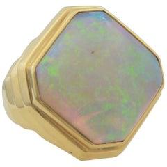 18 Karat Yellow Gold Opal Ring