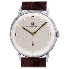 Girard Perregaux Stainless Steel Dress Model Manual Wind Wristwatch, circa 1960s