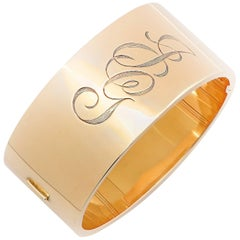 Yellow Gold Cuff Bangle