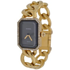 Chanel Yellow Gold Diamond Bezel and Lock Premiere Chain Wristwatch