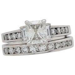 1.20 Carat Natural Radiant Cut Diamond Engagement Ring EGL Certified VS2/H