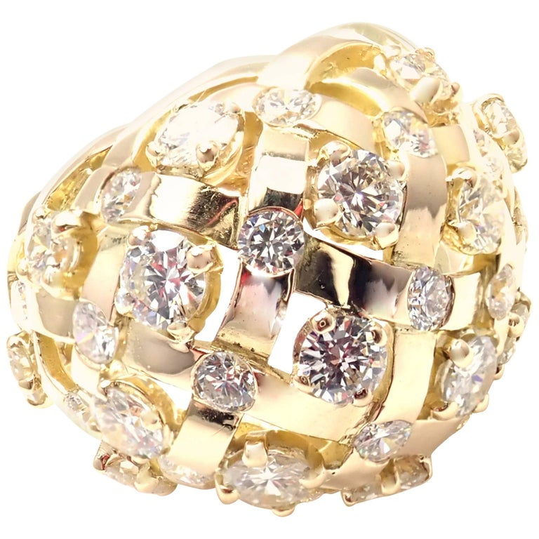 Jean Schlumberger Diamond Yellow Gold Bombe Cocktail Ring
