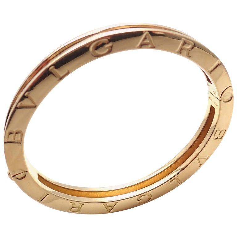 Bulgari Bvlgari B Zero Yellow Gold Bangle Bracelet