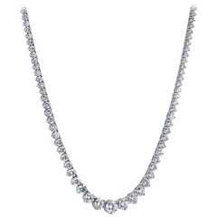 H & H 16.77 Carat Diamond Riviera Necklace