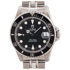 Tudor Stainless Steel Submariner self winding wristwatch Ref 75190, circa 1999
