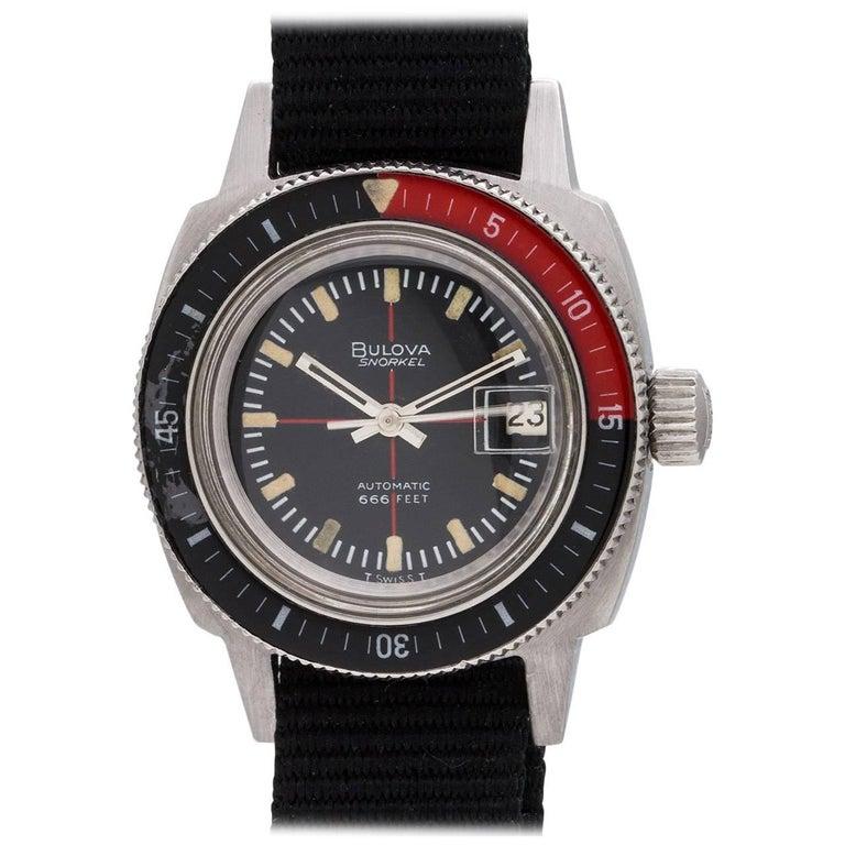 Bulova Ladies Stainless Steel Snorkel 666 Diver self winding wristwatch, c1960s