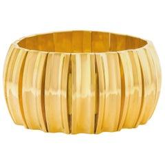 Incredible 1950s Chunky Italian Gold Bracelet