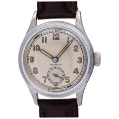 Swiss stainless steel Military Style Incabloc wristwatch, circa 1940s