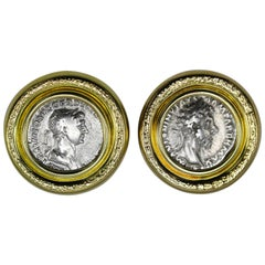 Rosaria Varra Ancient Roman Coin and Gold Earclips