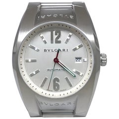 Bulgari Ergon Stainless Steel Automatic Silver Dial Date Bracelet Men's Watch