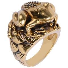 Valentin Magro Gold Frog Ring