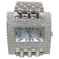 Chopard Haute Horlogerie White Gold Diamond White Dial Bracelet Ladies Watch