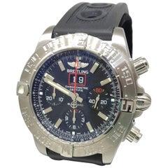 Breitling Chronomat Blackbird Stainless Steel Black Dial Men's Watch A4436010