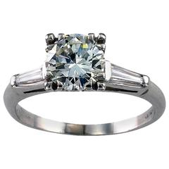 1.30 Carat Diamond Platinum Engagement Ring
