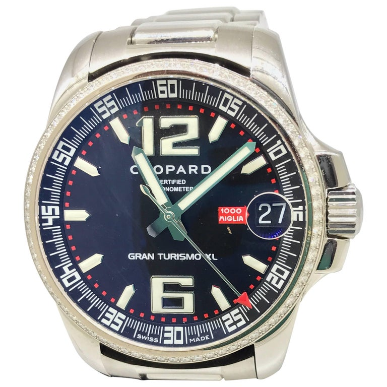 bfaca89cfd7cc Chopard Gran Turismo Stainless Steel Bezel Bracelet Automatic Men s Watch  For Sale at 1stdibs