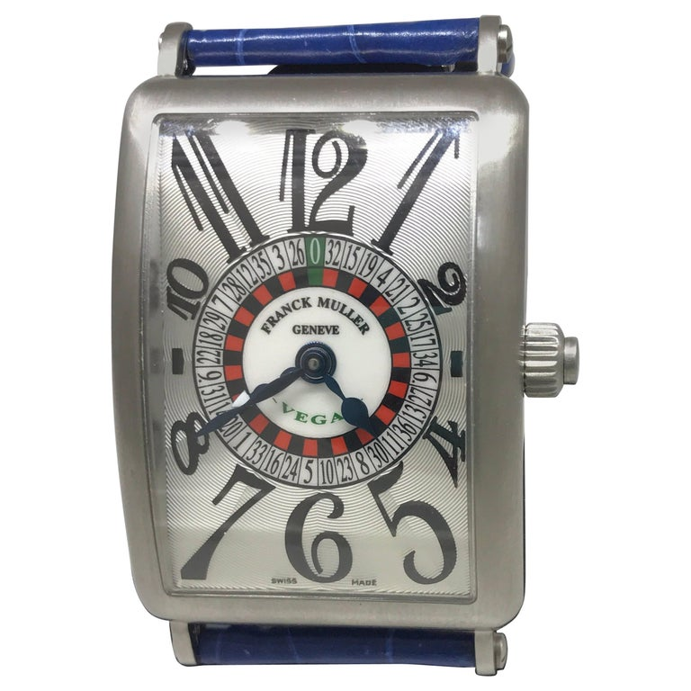 Franck Muller Long Island Las Vegas Stainless Steel Silver Dial Men's Watch 1250