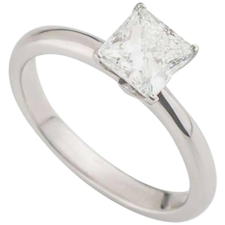 Tiffany & Co. 1.55 Carat Princess Cut Diamond Engagement Ring