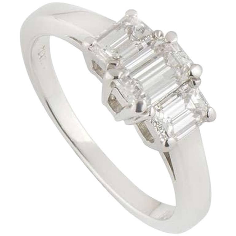 Tiffany & Co. Platinum Diamond Trilogy Ring
