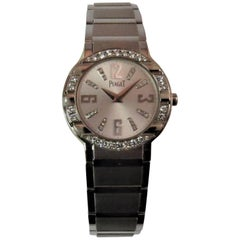 Piaget Ladies White Gold Diamond Polo Bracelet quartz Wristwatch