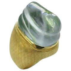 Burle Marx Aquamarine and Gold Forma Livre Ring