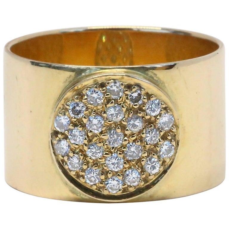 1970s Jean Dinh Van Anthea Diamond 18 Karat Gold Ring