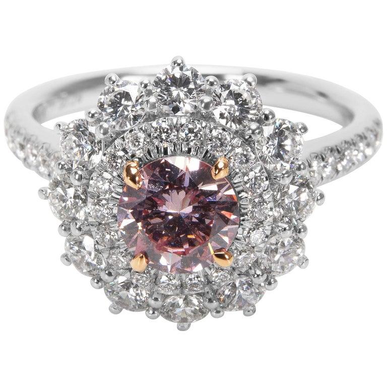 GIA Certified 1.75 Carat Fancy Pink Diamond Ring