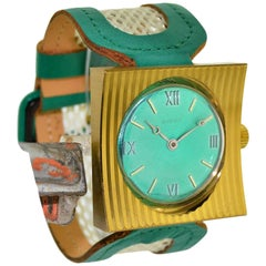 Sibon Gilt Bronze Prototype Manual Wind Watch, circa 1970 or 80's One of Five