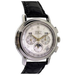 Zenith Stainless Steel El Primero Triple Date Chronograph Automatic Watch