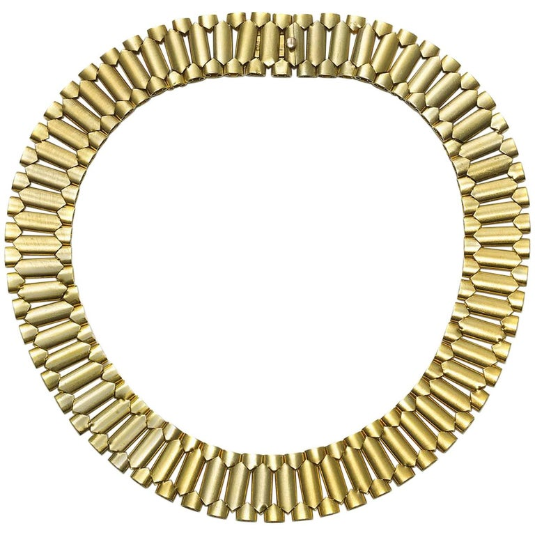 Antique Gold Collar Necklace