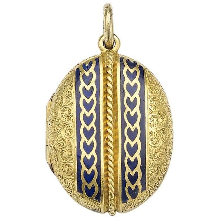 Victorian Gold Enamel Locket