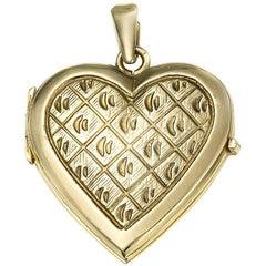 Italian Gold Heart Locket