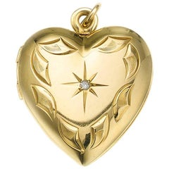 Diamond Heart Locket Pendant