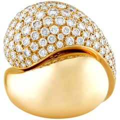 Diamond Crossover Ring by Cartier