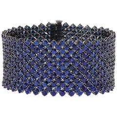 Sapphire Mesh Bracelet, 66.58 Carat