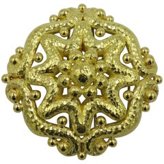 David Webb Yellow Gold Brooch