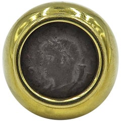 Ancient Coin and Gold Ring