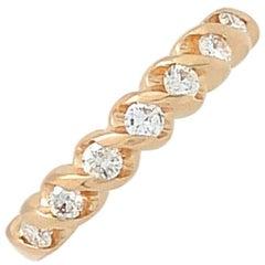 14 Karat Yellow Gold .35 Carat Diamond Wedding Band Ring