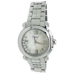 Chopard stainless steel Happy Sport Mother-of-Pearl Dial quartz Wristwatch