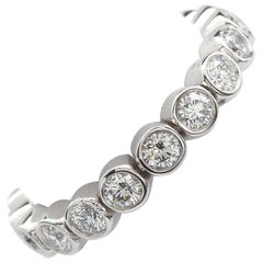 Tiffany & Co. Round Diamond in Platinum Jazz Flexible Eternity Band 1.80 Carat