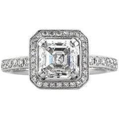 Mark Broumand 2.60 Carat Asscher Cut Diamond Engagement Ring