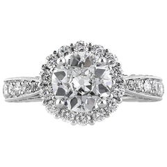 Mark Broumand 2.31 Carat Old European Cut Diamond Engagement Ring