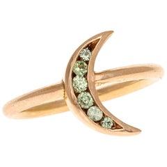 Lunette 18 Karat Rose Gold Mint Sapphire Ring