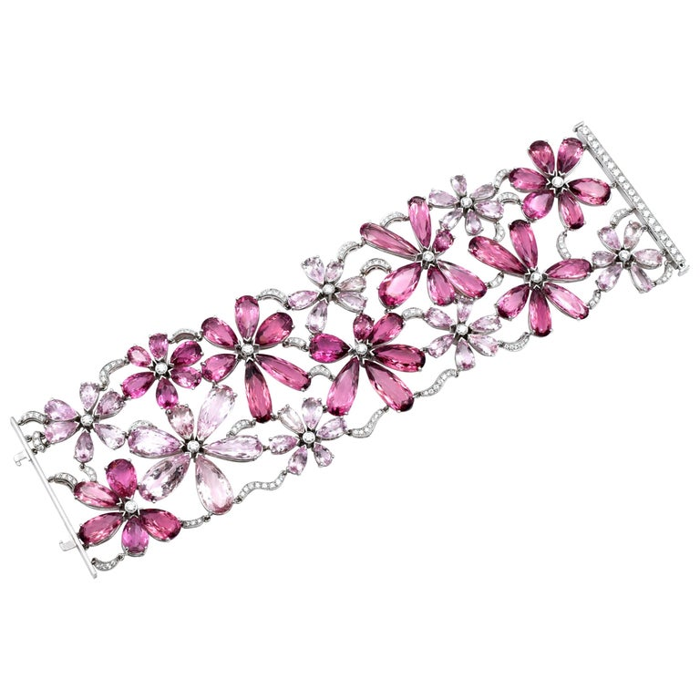 Tiffany & Co. Pink Tourmaline, Morganite and Diamond Bracelet