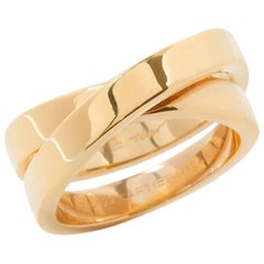 Cartier 18 Karat Yellow Gold Crossover Paris Nouvelle Vague Ring